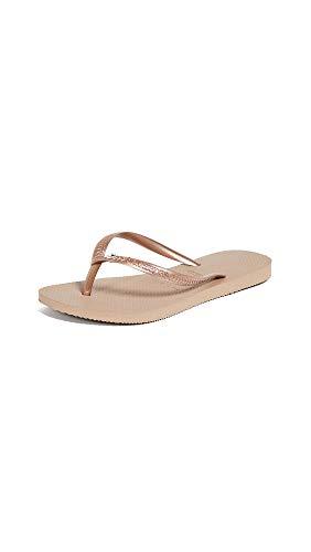 - Havaianas Women's Slim Crystal Glamour Flip Flops, Rose Gold, 39/40 M EU