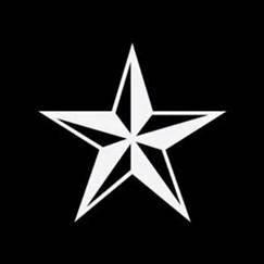White Nautical Star (Nautical Ocean Compass Star Vinyl Decals Sticker|WHITE|Cars Trucks Vans Suvs Boat Laptops Wall Art|5