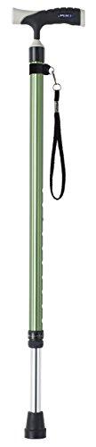 [보행보조재활지팡이] MiKi 미키 MRA-06004 소프트 그립 신축 알루미늄장 베이직 (그린) 소프트 그립장 시리즈 치수710~935mm(25mm피치10단계) 중량430g 알루미늄제 장유부착