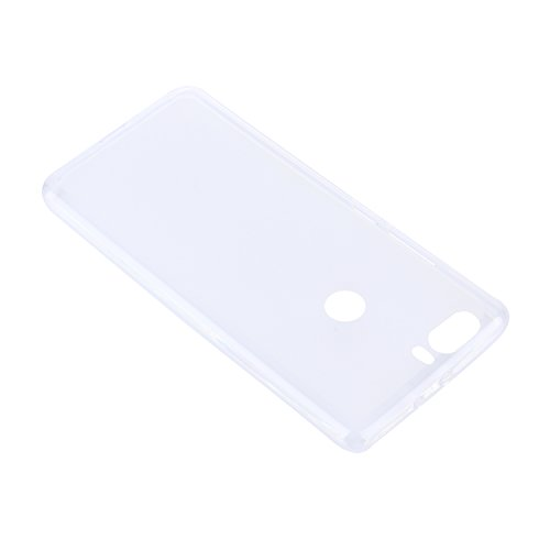 Lusee® Funda de silicona para ZTE Nubia Z17 5.5 pulgada Suave Cascara TPU negro blanco semi transparente