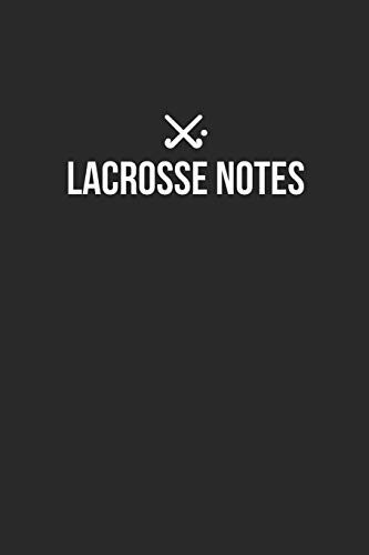 Lacrosse Notebook - Lacrosse Diary - Lacrosse Journal - Gift for Lacrosse Player: Medium College-Ruled Journey Diary, 110 page, Lined, 6x9 (15.2 x 22.9 cm) por Crafted Sports Notebooks
