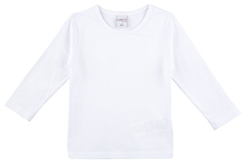 Lovetti Girls' Basic Long Sleeve Round Neck T-Shirt - Girls Plain Long Sleeve Tshirts