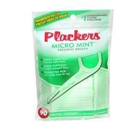 Plackers Dental Flossers, Micro Mint 90 each by Plackers (Pack of 2) by Plackers