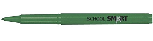 School Smart Felt Tip Pens - Pack of 12 - Green