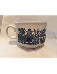 Churchill of England Blue Willow Jumbo Mug/Soup Bowl 12 Oz