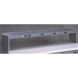 Electrical Shelf Riser, 60Wx15Dx18H, Gray ()