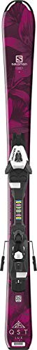 Salomon QST Lux Jr Kids Skis w/Easytrak C5 Bindings Red/Black Girl