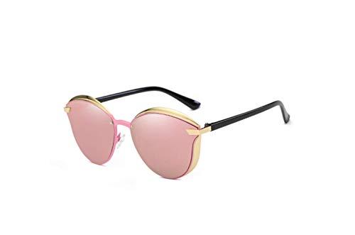 Cara Conducción Marco UV Protector Polarizador De liwenjun Grande Gafas Sol De De Marco De Gafas De Tabletas De Redonda De Polarizado Polvo Sol Oro Gafas Protección wCC6T8q