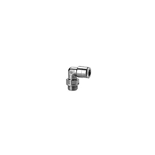Camozzi 6522 10-3/8 Push In Fitting Swivel Elbow, 10 mm Tube, 3/8' Thread (Pack of 5) 3/8 Thread (Pack of 5)