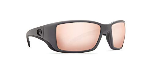 Costa Del Mar BL98OSCGLP Blackfin Sunglass, Matte Gray Silver Mirror (Silver Gray Sunglasses Mirror)