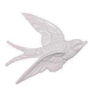 Blanco Retro 3 Volador pared golondrinas estilo vintage cer/ámica decoraci/ón pared placas
