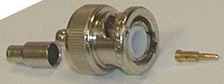 RF / Coaxial Connector, BNC Coaxial, Straight Plug, Crimp, 50 ohm, RG174, RG188, RG188A, RG316 (Rg188 Cable Coaxial)