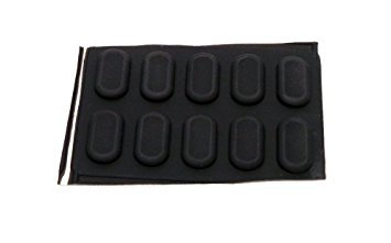 Genuine Dell Latitude 120L D410 D420 D430 D620 D630 Case 10-Piece Bottom Rubber Feet Laptop Notebook Stickers Compatible Part Numbers: R6536, 0R6536