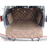 EZPETS Luxury Dog Seat Covers For Cars,Dog Car Seat Hammock Convertible,Universal Fit,Extra Side Flaps,Exclusive Nonslip,Waterproof Padded Quilted,Brown (L) ()