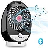 (USBPersonalMusicFanBluetoothSpeakerAirFan - OLIISS 3SpeedsRechargeable DualChannelStereoSpeaker SupportBluetoothConnection&TFCard)