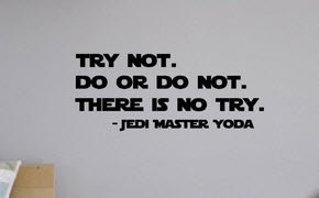 Try Not Do Or Do Not Yoda Quote Star Wars Quote Vinyl Decal Buy Online In Gambia At Desertcart