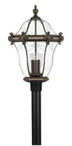 (Hinkley 2447CB Traditional Three Light Post Top/ Pier Mount from San Clemente collection in Copperfinish,)