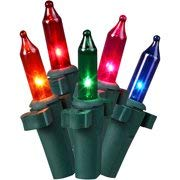 Holiday Time Net Light Set Green Wire Multi Bulbs, 150 Count (Set of 5) ()