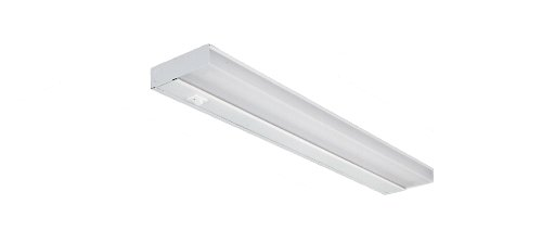 NICOR Lighting 21-Inch 13-Watt T5 Fluorescent Under Cabinet Light, White (10365EB) (Fluorescent Slim Under Cabinet T5)