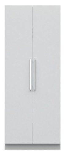 Manhattan Comfort Chelsea Double Hanging Closet 2.0 Collection Stand Alone Clothing Wardrobe Cabinet with Double Hanging Rods and Storage Shelf, 35