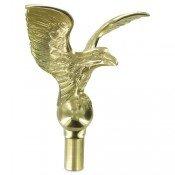 7in Metal Flying Eagle Finial - 8.25in Wing Span (Flying Metal Eagle)