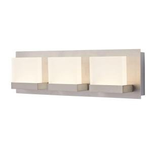 Brushed Nickel Decorator (Alberson Collection 3-Light LED Vanity Fixture)