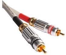 3.28 Ft Locking Pin Connectors 1.0M Rega Couple 2 RCA to RCA Analog Interconnect