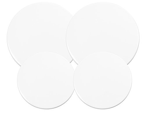 "Calypso Basics Heavy Weight Electric Burner Cover,set of (2)10"" and (2)8"", White"