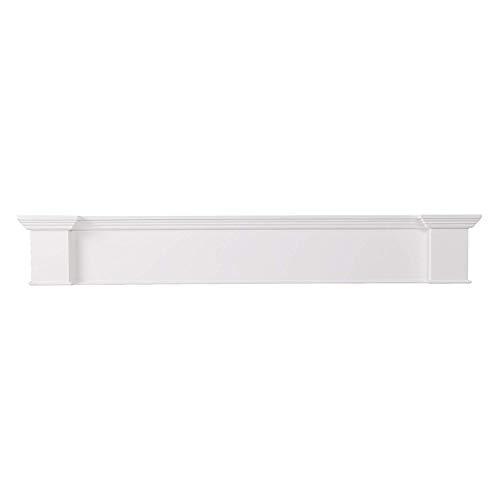 Furniture HotSpot Fireplace Mantel Shelf – White – 60″ W x 8″ D x 9″ H