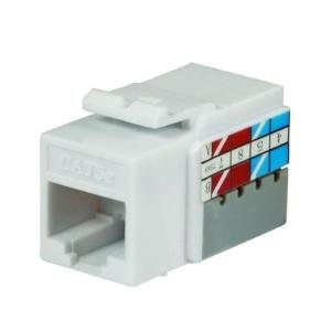 Ce Tech 5015-wh White Cat5e Keystone Jack, Cat 5e Keystone Jack, Cat 5 E Keystone Jack Keystone Jacks Snap Into Any Housing or Wall Plate, High Performance Data Transmission up to 100mhz, Includes Plastic 110 Punch Down Tool