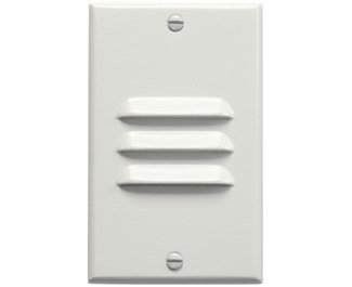 Kichler 12606WH Step and Hall 120V LED Step Light Vertical Louver, White by KICHLER