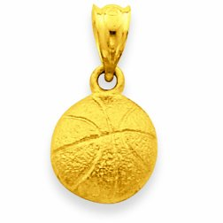 14 ct 585/1000 Or Basketball-Pendentif