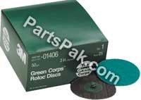 3M TM Green Corps(TM) Roloc(TM) Disc, 1396, 2 in, 50YF (01396)