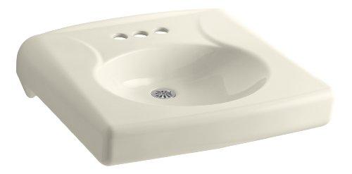 KOHLER K-1997-4N-47 Brenham Wall-Mount Bathroom Sink with 4