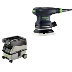 Festool ETS 125 EQ + CT Mini Dust Extractor (Mini Dust Extractor Package)