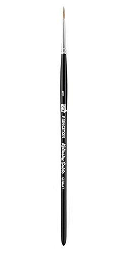 Princeton (1-Pack) 7050 Kolinsky Sable Short Handle Watercolor Paint Brush Size 1 Round 7050R1-1P Size: 1 PackageQuantity: 1, Model: BCAC30537, Office Shop