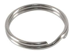 (15 Split Rings Sterling Silver Charm Parts 6mm)