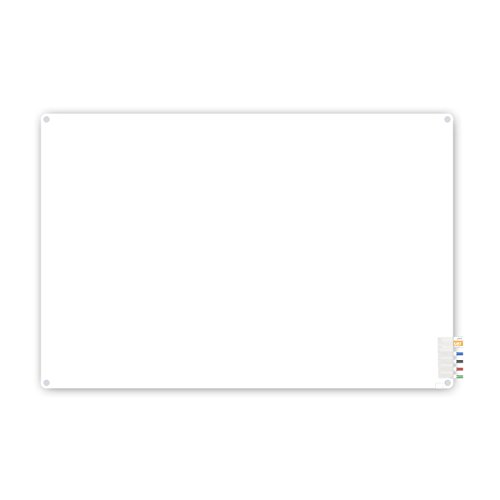 4'x6' Harmony Frosted Glass Board - Radius Corners - 4 Markers and Eraser ()