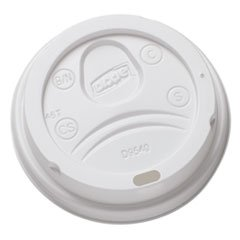 Dixie DL9540CT Sip-Through Dome Hot Drink Lids for 10 oz Cups White 100/Pack 1000/Carton