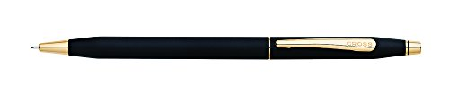 Cross Classic Century Classic Black 0.7mm Pencil with 23KT Gold-Plated Appointments