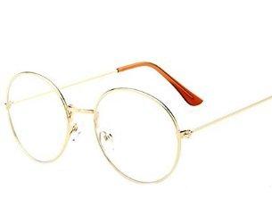 Fligatto retro rotonda metallo piatto specchio occhiali cornici da uomo donna occhiali cornice decorativa argento silver