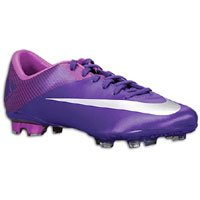 Youth Nike JR Mercurial Vapor VII FG Soccer Cleats Court Purple / Metallic Luster/ Magenta 442058-505 Size 6