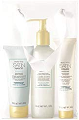 Mary Kay Satin Hands Pampering Set Scrub, Cream & Softener - Fragrance-Free