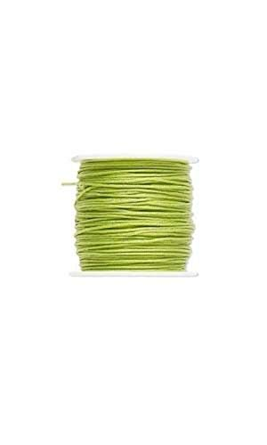 1 Yard 1mm Thick Light Green Imitation Silk Macrame Beading Cord for Beads and ()