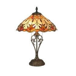 Dale Tiffany TT70699 Marshall Table Lamp, Antique Brass and Art Glass Shade