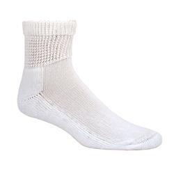 Diabetes & Circulatory Health Socks 3 Pack (Ankle) (Medium (Womens 4-10 & Mens 3-9), White) - DSU-2051-WM1-MC by Dr. Scholl's