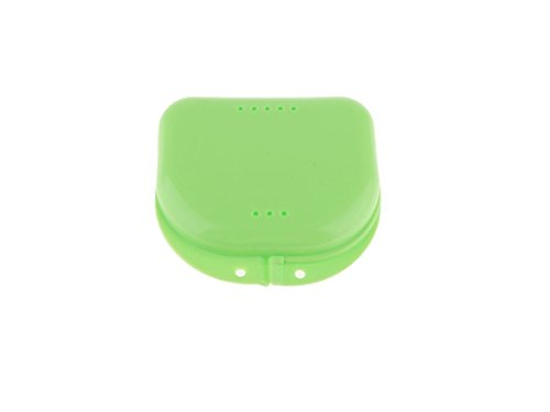 Gelaiken Nail Tools Dental Retainer Mouthguard Denture Storage Case Container(Green)
