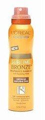 L'Oreal Body Sublime Bronze, ProPerfect Airbrush, Self Tanning Mist Medium Natural Tan 4.2 oz (192 g) by L'Oreal Paris - Loreal Sublime Bronze Airbrush