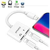 DPKIKO Headphone Audio Adapter & Splitter Compatible with iPhone 7, 7Plus, 8, 8Plus, X, XS Max/XR,8 Pin Earphone Jack AUX Audio & Charge & Call Adapter Connector Charger Cable