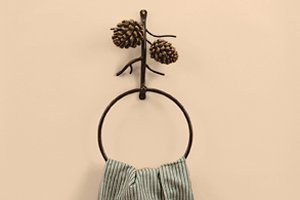 (DEI Country Pinecone Towel Ring, 6-Inch)
